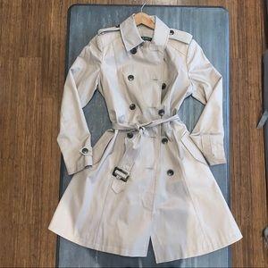 XS Ralph Lauren khaki Trench/Raincoat! NWOT!